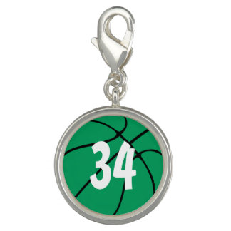 Basketball Player Number or Initials Green Bball
