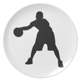 Basketball Player Party Plates
