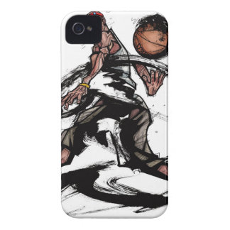 Basketball player playing with basketball Case-Mate iPhone 4 case