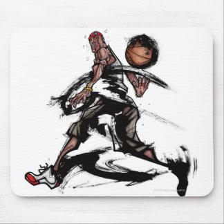 Basketball player playing with basketball mouse mat