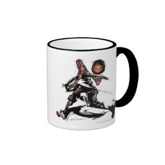 Basketball player playing with basketball ringer mug