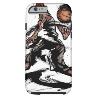 Basketball player playing with basketball tough iPhone 6 case