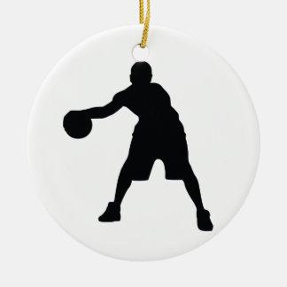 Basketball Player Round Ceramic Decoration