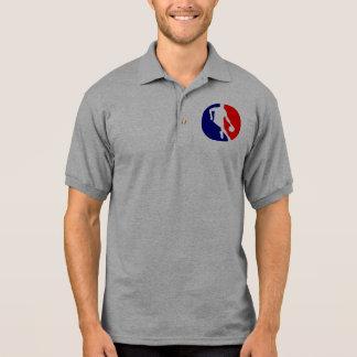 Basketball Player Round Polo Shirt