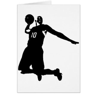 Basketball Player Silhouette Greeting Card