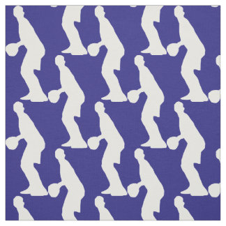 Basketball Player Silhouette Pattern Fabric