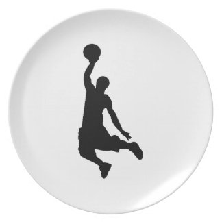 Basketball Player Silhouette Plate
