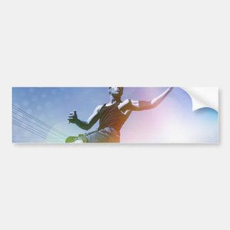 Basketball Player Slam Dunk Bumper Sticker
