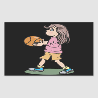 Basketball Player Rectangle Sticker