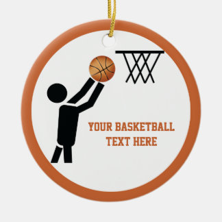 Basketball player with ball custom christmas ornament