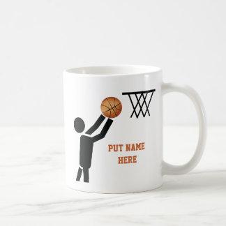 Basketball player with ball custom classic white coffee mug