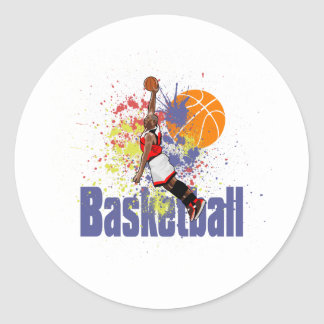 Basketball Player With Paint Splashes Stickers