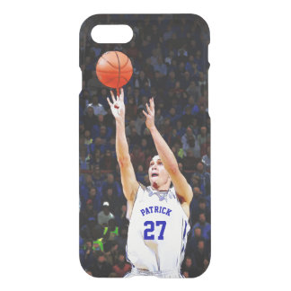 Basketball Player With Your Blue Name And Number iPhone 7 Case