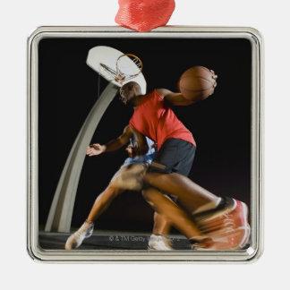Basketball players 2 christmas ornament