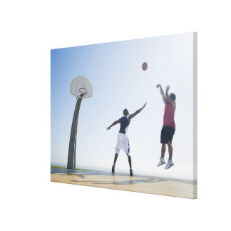 Basketball players 3 gallery wrap canvas