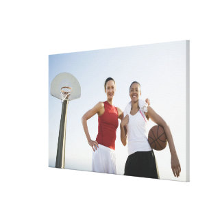 Basketball players 4 canvas print