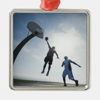 Basketball players 5 Silver-Colored square decoration