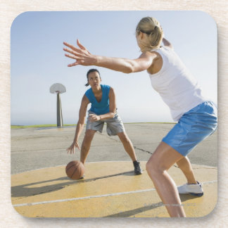 Basketball players 6 beverage coasters