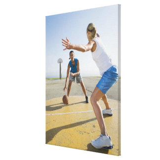 Basketball players 6 stretched canvas print