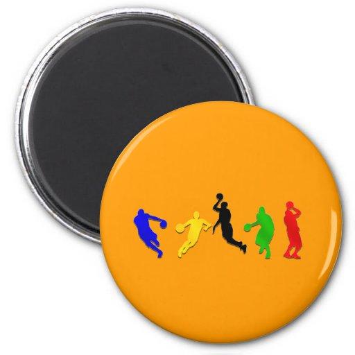 Basketball players hoops   basketball refrigerator magnets