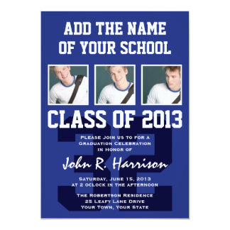 Basketball Player's Sports Graduation Shirt Number Card