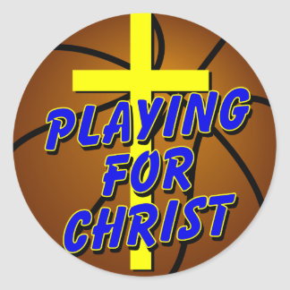 "Basketball ""Playing for Christ"" Sticker"