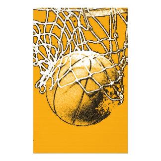 Basketball Pop Art Stationery Paper