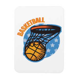 Basketball Rectangle Magnets
