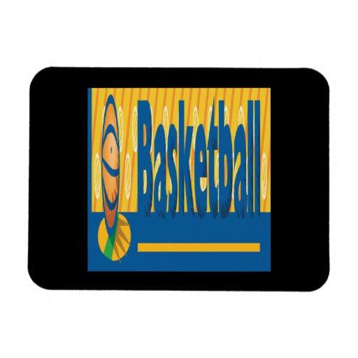Basketball Rectangular Magnets