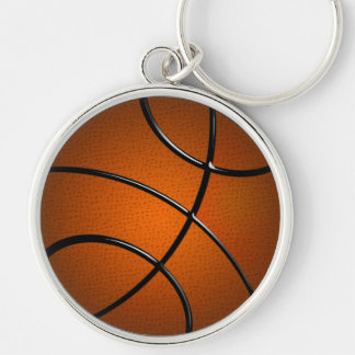 BasketBall Premium Round Keychain