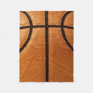 Basketball Print Pattern Background Fleece Blanket