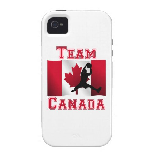 Basketball Rebound Canadian Flag Team Canada Vibe iPhone 4 Case