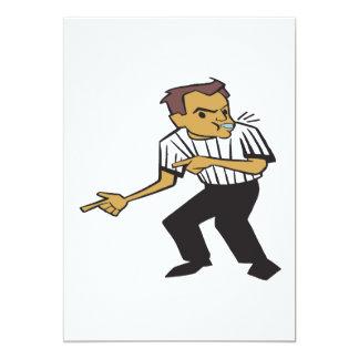 Basketball Referee 13 Cm X 18 Cm Invitation Card