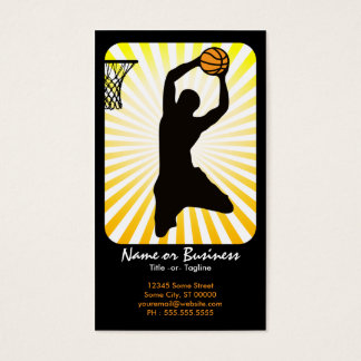 basketball : retro rays : business card