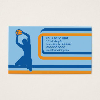 basketball : retro style : business card