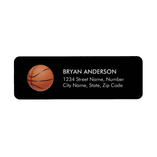 Basketball Return Address Label