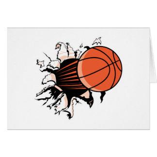 basketball ripping through card