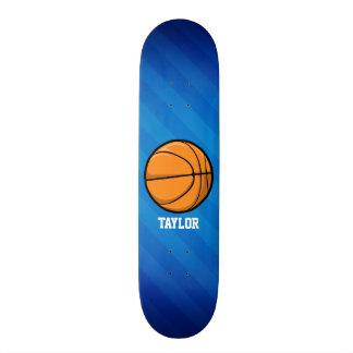Basketball; Royal Blue Stripes 19.7 Cm Skateboard Deck