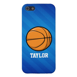 Basketball; Royal Blue Stripes iPhone 5/5S Cover