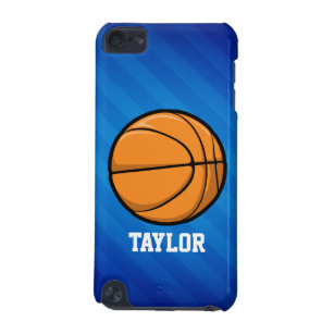 Basketball; Royal Blue Stripes iPod Touch 5G Cover