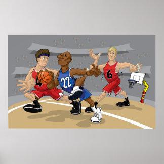 Basketball rush with Mavericks and Bulls Print