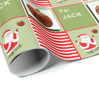Basketball Santa Wrapping Paper