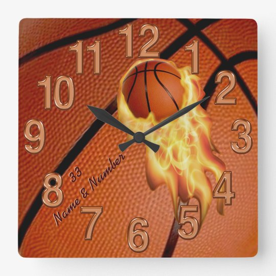 Basketball Senior Gifts Clock with NAME and NUMBER