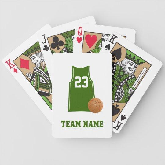 Basketball Shirt With Basketball Playing Cards