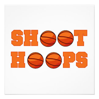 Basketball Shoot Hoops T-shirts and Gifts Invite