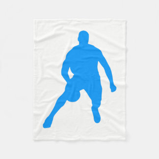 Basketball Silhouette Fleece Blanket