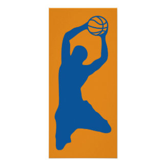 basketball silhouette posters