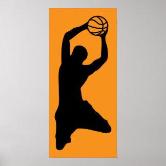 basketball silhouette print