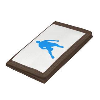 Basketball Silhouette Trifold Wallets