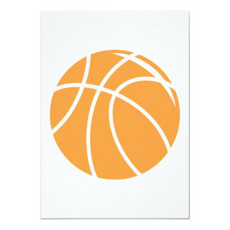 basketball simple vector graphic invites